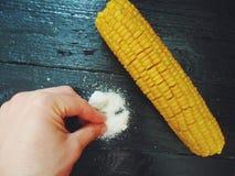 guloseima deliciosa do milho e do sal Imagem de Stock