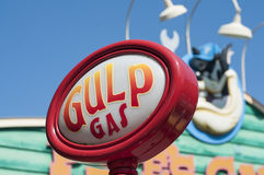 Gulp! Dr Seuss Landing. October 4th 2010: Sign from Dr. Seuss Landing at Disney World in Orlando. The park brings in millions of visitors each year Royalty Free Stock Photography