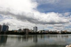 Gulshan湖在达卡 免版税库存照片