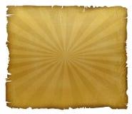 Gult ark med rivna kanter Arkivfoton