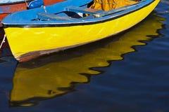 Gult fartyg Fotografering för Bildbyråer