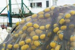 Gult fisknät Royaltyfri Foto
