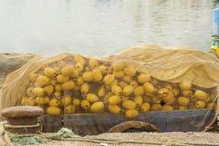 Gult fisknät Arkivfoton