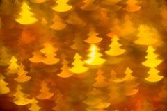 Gult foto för form för granträd som bakgrund Royaltyfria Bilder