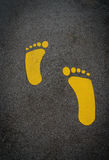 Gult fotspår Royaltyfri Bild