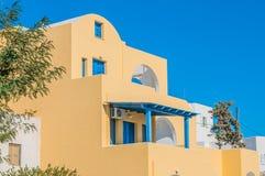 Gult grekiskt hus Royaltyfria Foton