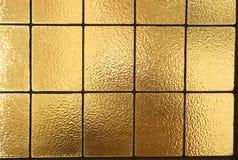 gult horisontal förser med rutor fönstret Arkivbild