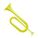 Gult horn royaltyfri illustrationer