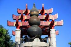 Gult krantorn i den Wuhan staden Royaltyfria Foton