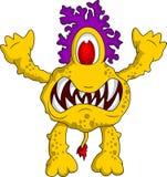 gult monster för dig design Arkivbild