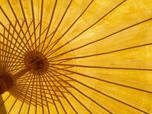 Gult paraply Royaltyfri Foto