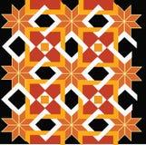 Gult retro abstrakt begrepp Arkivbild