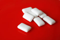 Gum. Chewing gum on a table stock photography