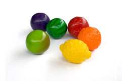 Gum. Ball,candy(my fruit sweets Royalty Free Stock Photo