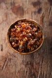 Gum arabic, also known as acacia gum Stock Photos