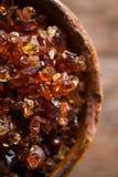Gum arabic, also known as acacia gum Stock Photo