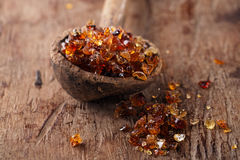 Gum arabic, also known as acacia gum Stock Photo