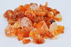 Gum arabic on white background Royalty Free Stock Images