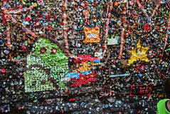 Gum art @ Post Alley gum wall Royalty Free Stock Photos