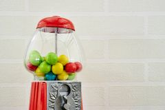 Gum Ball Machine. A studio photo of a vintage gum ball machine Stock Photos
