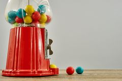 Gum Ball Machine. A studio photo of a vintage gum ball machine Royalty Free Stock Photo