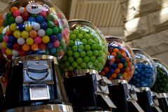Gum Ball Machines Stock Photo