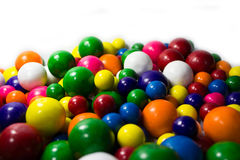 Gum Balls. Pile of colorful gum balls on a white background Stock Image