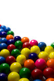 Gum Balls. Group of colorful gum balls on a white background Stock Photos