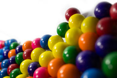 Gum Balls. Group of colorful gum balls on a white background Stock Photo