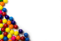 Gum Balls. Group of colorful gum balls on a white background Stock Photography