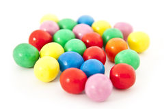Gum balls. In many colors royalty free stock photos