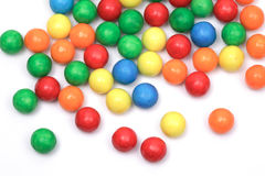 Gum balls, isolated. Colored gum balls, isolated on white royalty free stock photos