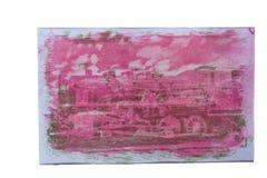 Gum bichromate print Royalty Free Stock Photos
