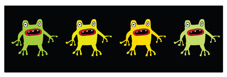 Gum Bug Aliens. Four illustrated aliens in four different colours royalty free illustration