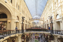GUM department store in Moscow, Russia Royalty Free Stock Photography