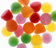 Gum Drops. Colorful Gum drops backlit on white Royalty Free Stock Photography
