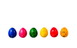 Gum ester eggs on white background Stock Photography