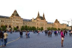 GUM. The most famous shopping center in Moscow on Red Square Royalty Free Stock Photos