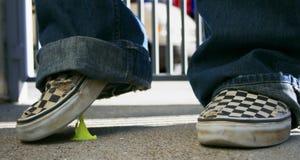 Gum on shoe Stock Photo