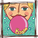 Gum to inflate Stock Photo