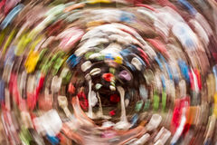 Gum Wall Background With Circular Motion Blur Royalty Free Stock Image