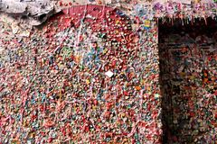 Gum Wall, Downtown Seattle. A close-up of the Gum Wall in Downtown Seattle Stock Images