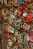 Gum on wall. A wall filled with gum in Verona Italy Royalty Free Stock Images