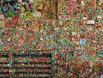 Gum Wall. At Pike Place Market stock images