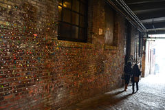 The Gum Wall at Pike Place, Seattle, Washington Royalty Free Stock Image