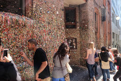 The gum wall Royalty Free Stock Photography
