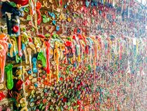 Gum wall in seattle washington Royalty Free Stock Photography