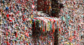 Gum Wall Underground Tunnel at Pike Place Market Stock Photos