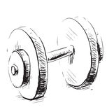 Gum weight dumbbell cartoon icon Royalty Free Stock Images