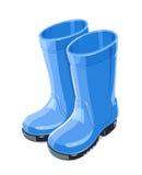 Guma ogródu buty Ochrona buty Pracujący mundur ilustracji